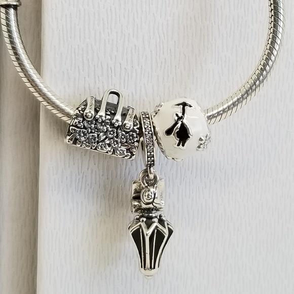 Mary Poppins Bag Umbrella Silhouete charm Pandora